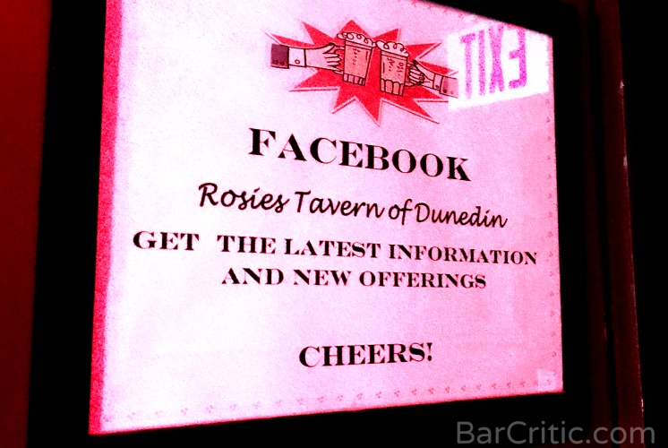 Rosie's Tavern on Facebook